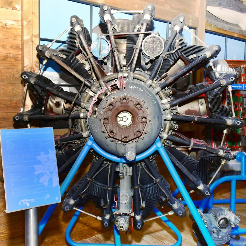Radial engine. No name radial engine for planes,War World Two stock photography