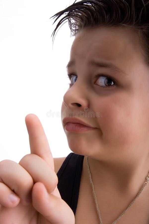 No no. Kid saying no and finger royalty free stock images