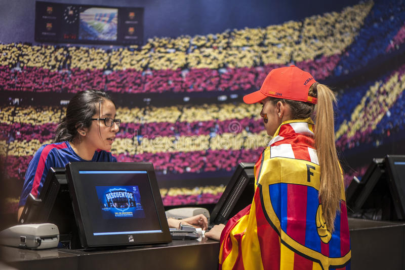 No oficial Megastore do FC Barcelona fotografia de stock royalty free