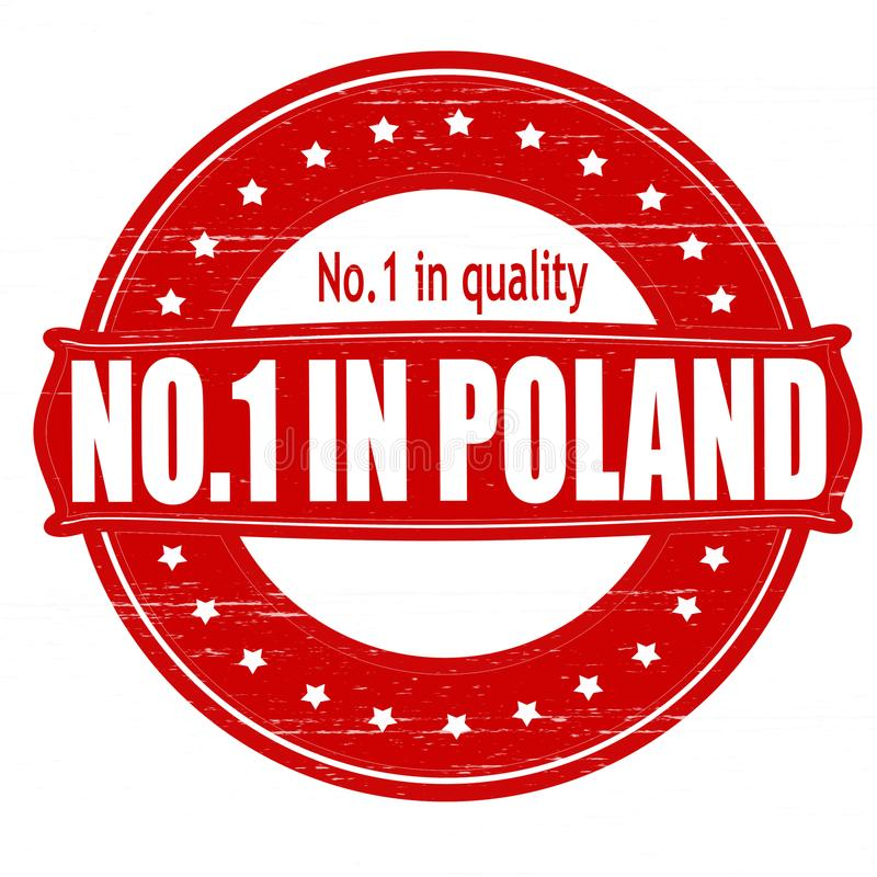 No one in Poland. Stamp with text no one in Poland inside, illustration vector illustration