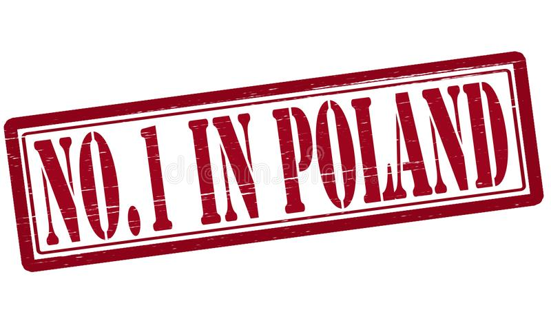 No one in Poland. Stamp with text no one in Poland inside, illustration royalty free illustration