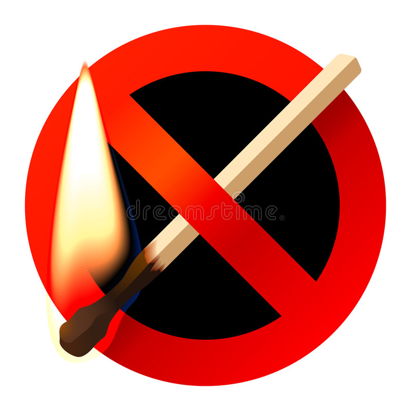 Download No open fire sign stock vector. Illustration of illustration - 7530611
