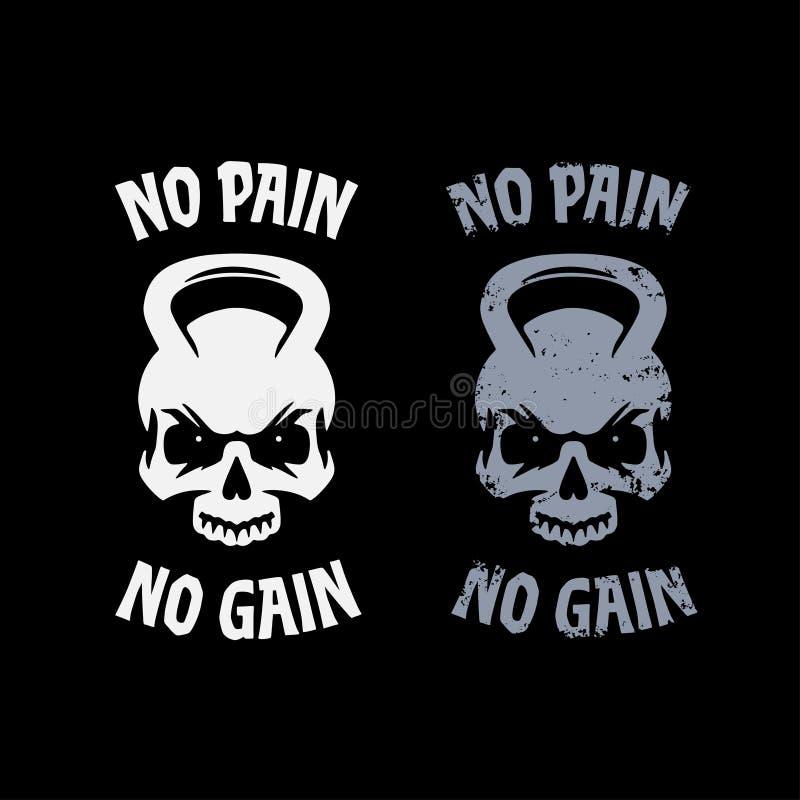 Free No Pain No Gain Poster. Vector Illustration. Royalty Free Stock Photo - 162929835