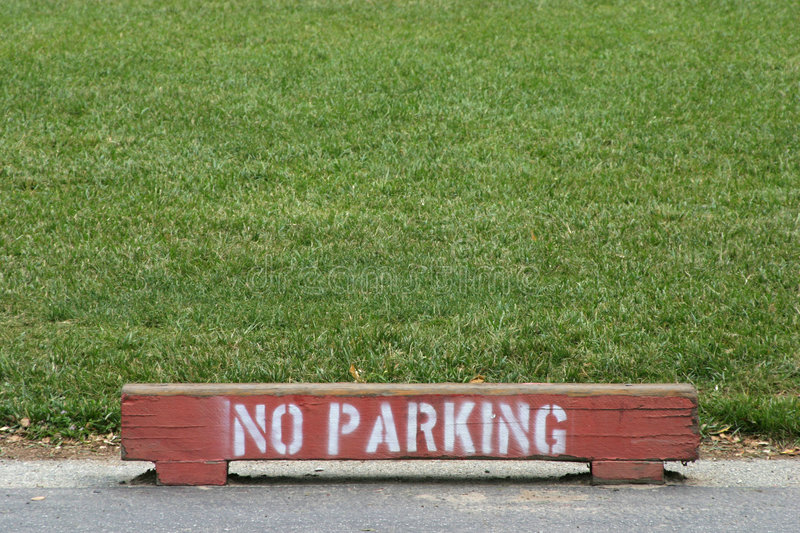 Download No Parking stock image. Image of field, grass, asphalt - 459323