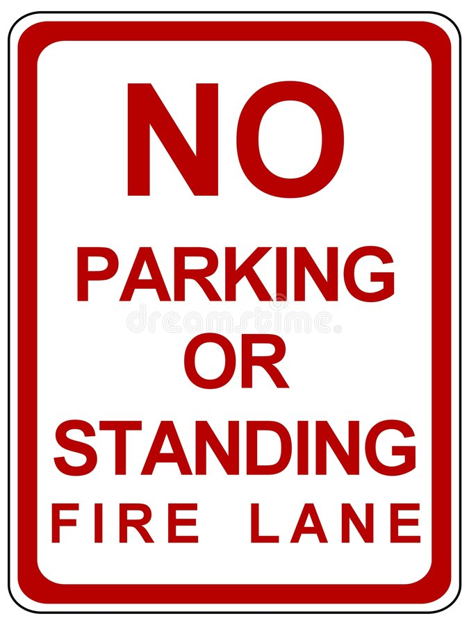 Download No parking stock illustration. Image of white, park, tagged - 7956485