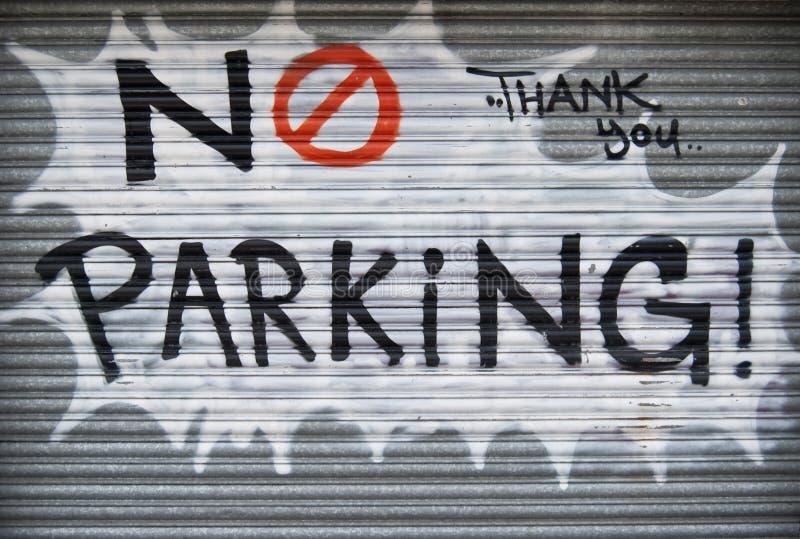 No parking graffiti royalty free stock photo
