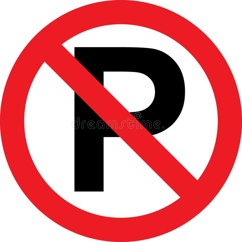 Free No Parking Sign Royalty Free Stock Photography - 101264787
