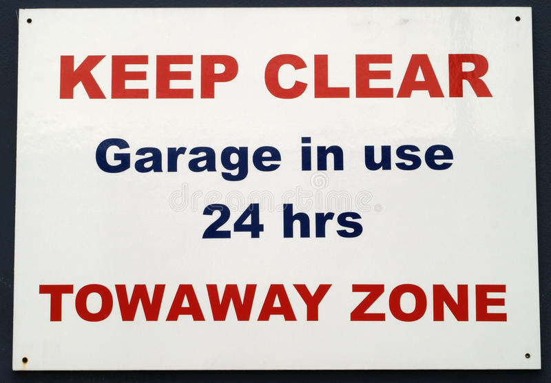 No parking sign. Keep clear royalty free stock photo