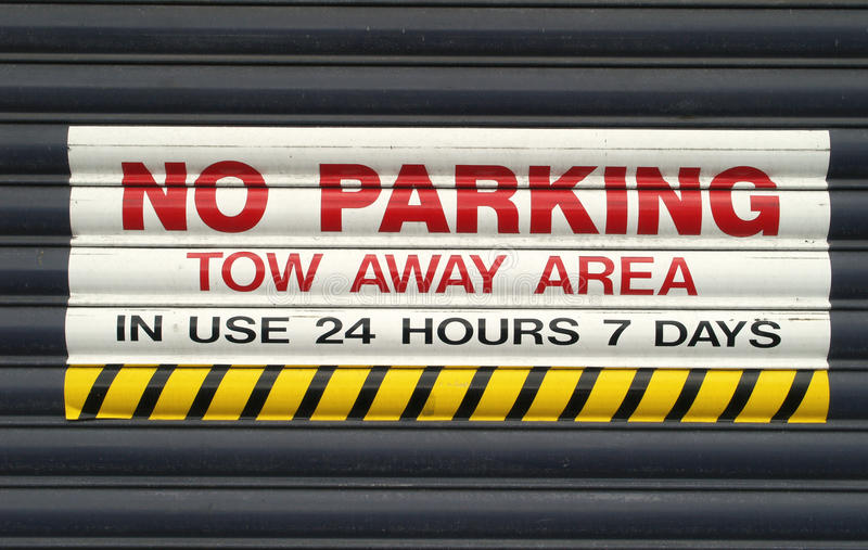 No parking sign. Keep clear royalty free stock photos
