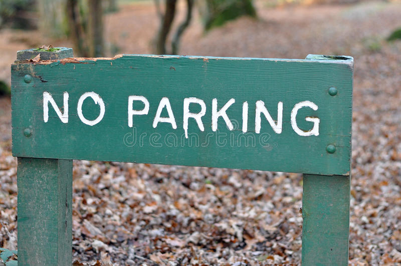Download No Parking sign stock image. Image of notice, wooden - 36615011