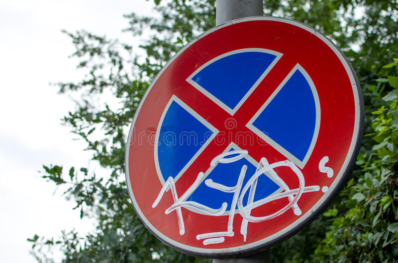 No parking sign (Italy) stock photography