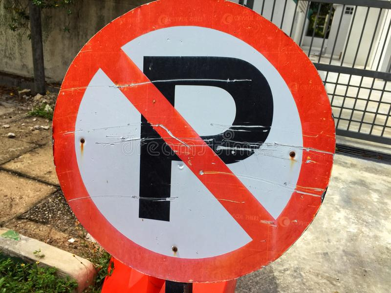 No parking signboard. In Malaysia stock photo