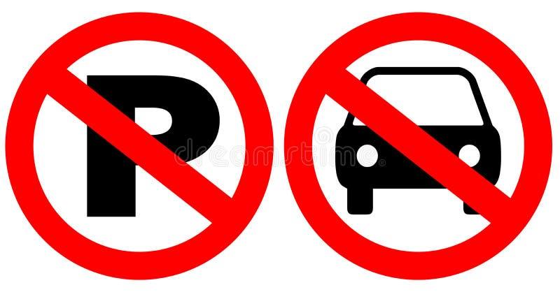 Download No parking signs stock illustration. Illustration of regulation - 10524146