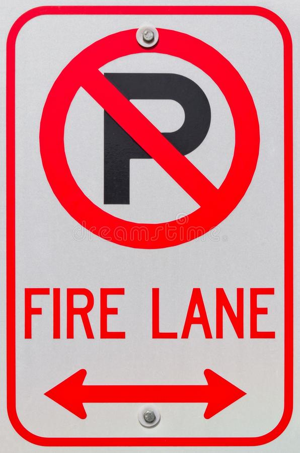 Download No Parking Symbol Fire Lane Sign Stock Images - Image: 27041154