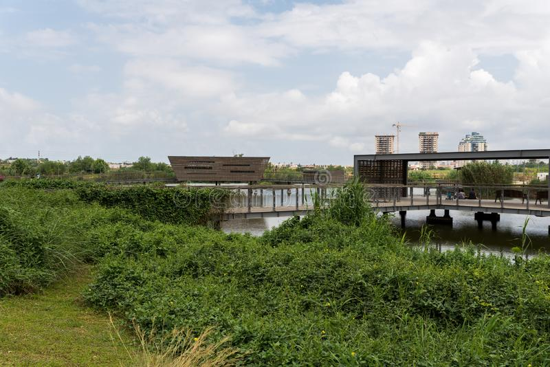 No parque do haSharon do Hod, Sharon Area imagens de stock royalty free