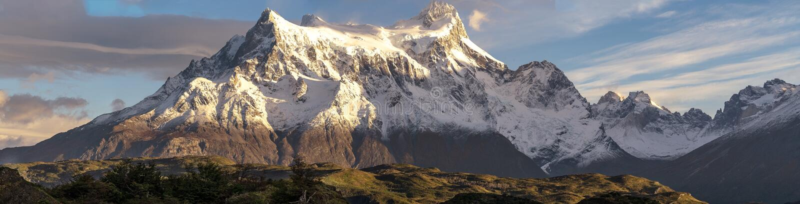 No parque nacional de Torres del Paine, Patagonia, o Chile imagens de stock