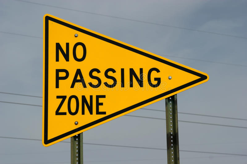 no passing zone sign stock photos - image: 12143353