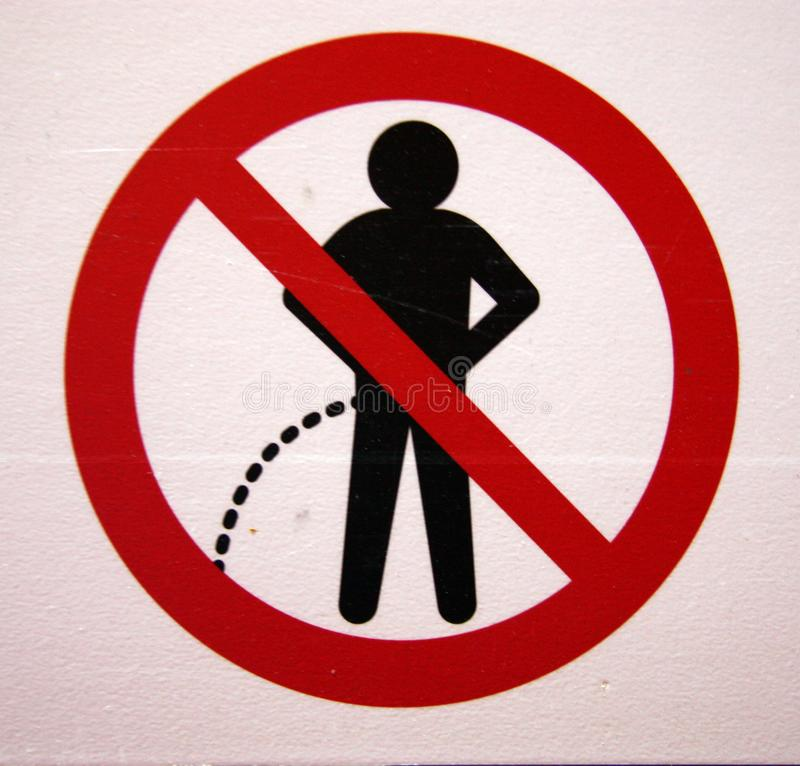 No Urinating Sign Stock Image Image Of Sign Male Splash