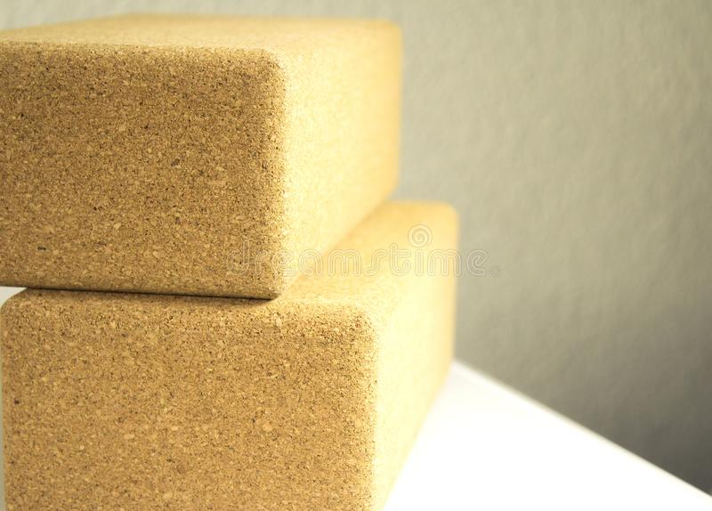 Blocks for yoga and pilates exercises royalty free stock photography