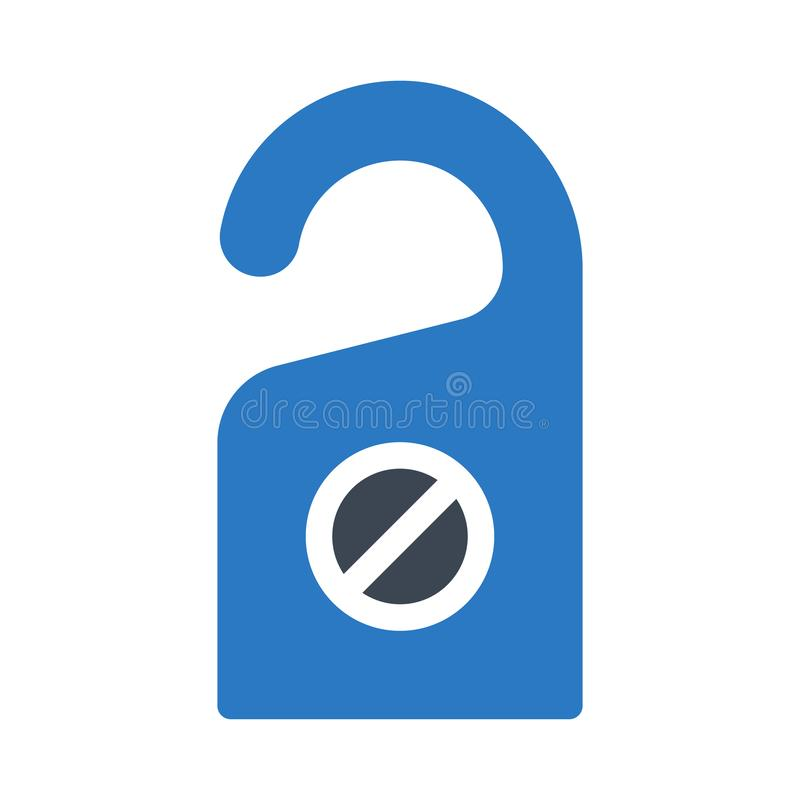 No perturbar el icono plano del color del glyph stock de ilustración