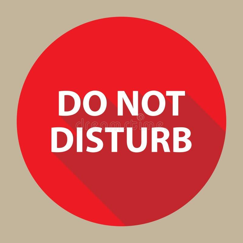 No perturbe el botón libre illustration