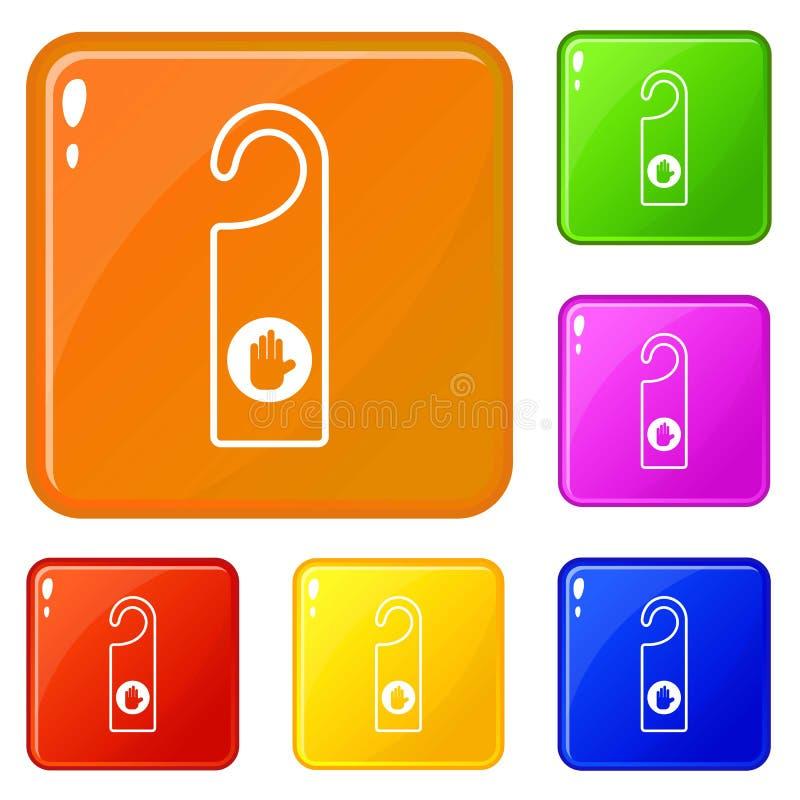 No perturbe el color del vector del sistema de los iconos de la muestra libre illustration