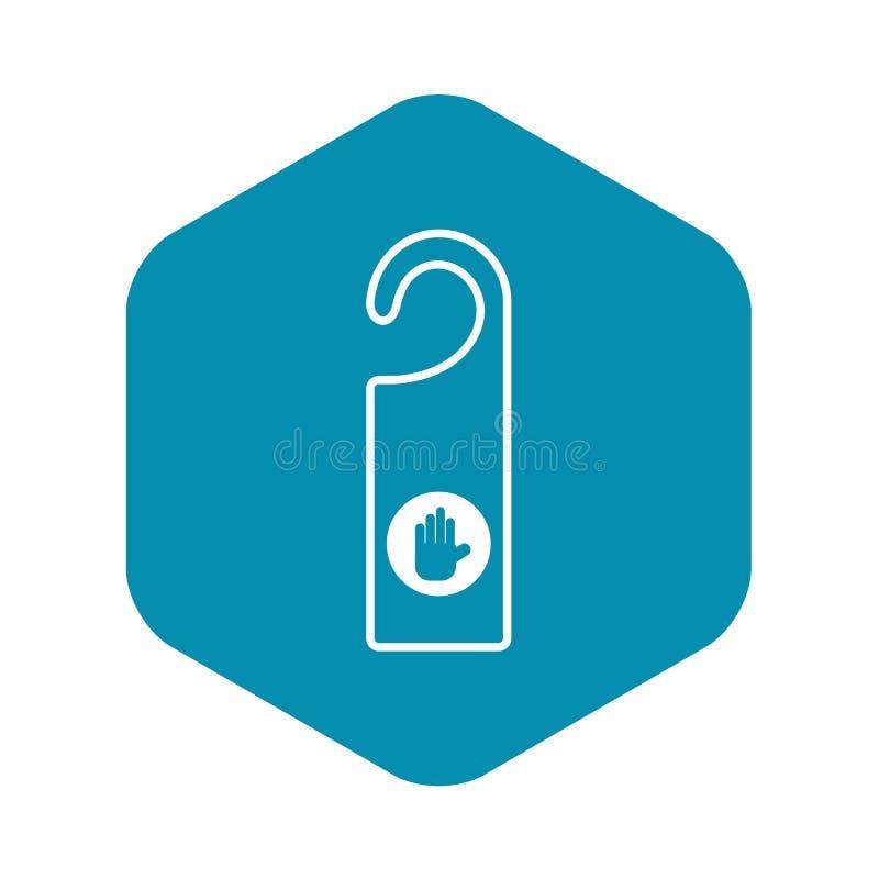 No perturbe el icono de la muestra, estilo simple stock de ilustración
