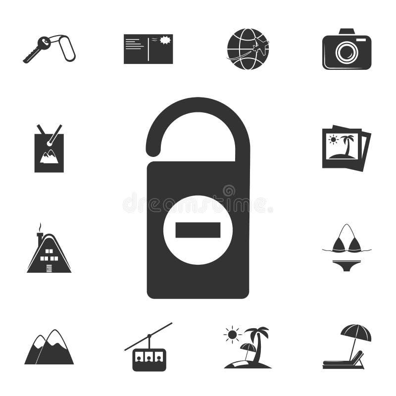 No perturbe el icono de la muestra Sistema detallado de iconos del viaje Diseño gráfico superior Uno de los iconos de la colecció stock de ilustración