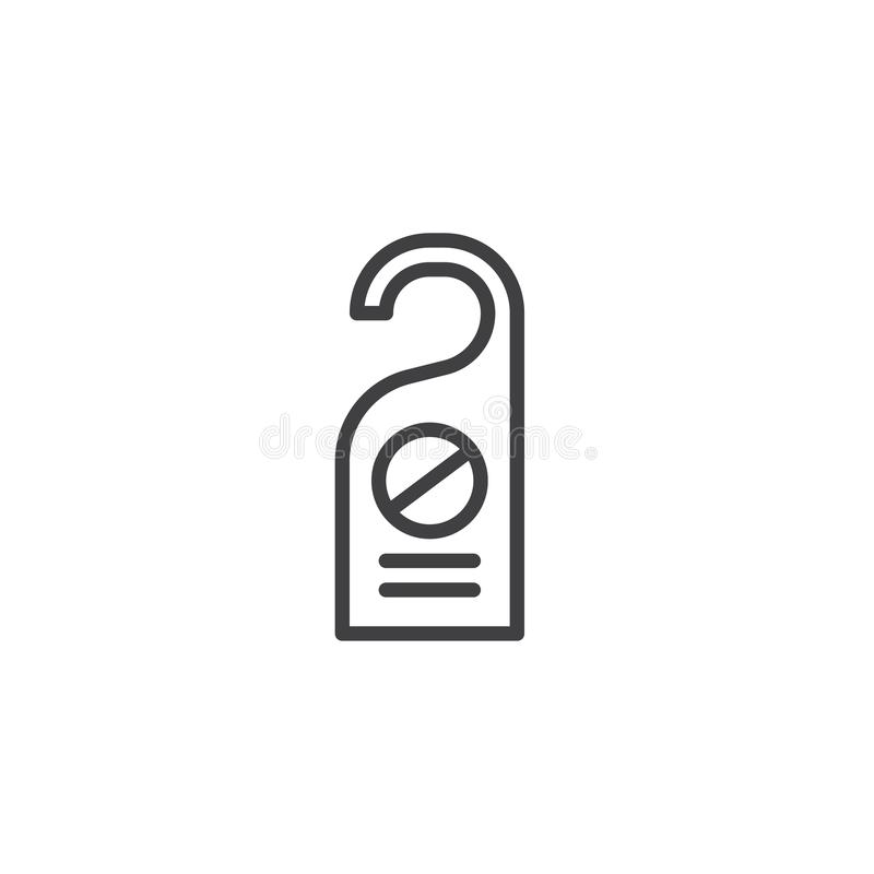No perturbe el icono del eslogan de la puerta libre illustration