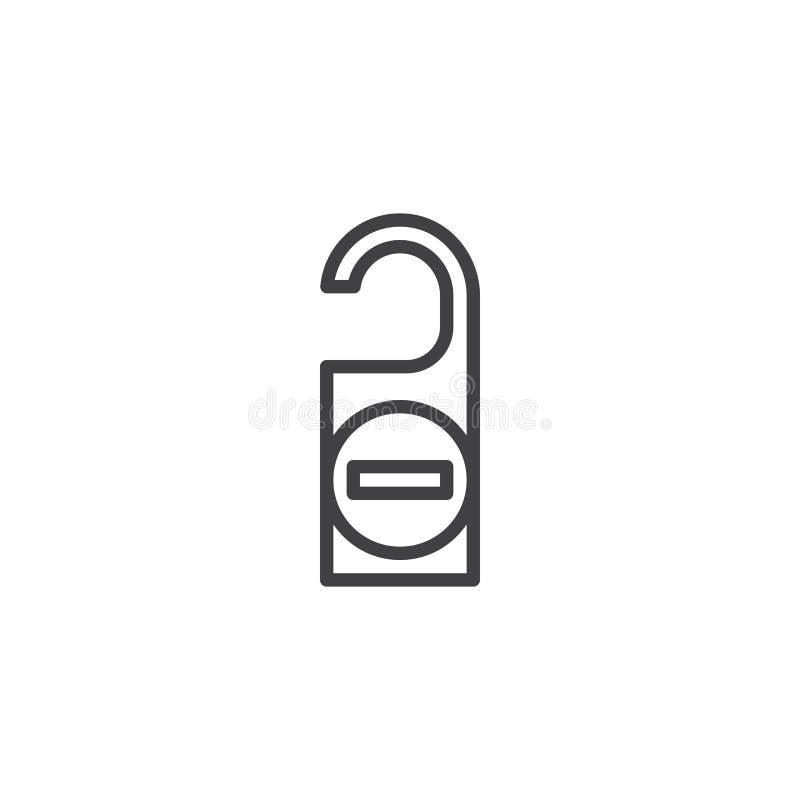 No perturbe el icono del eslogan del sitio libre illustration