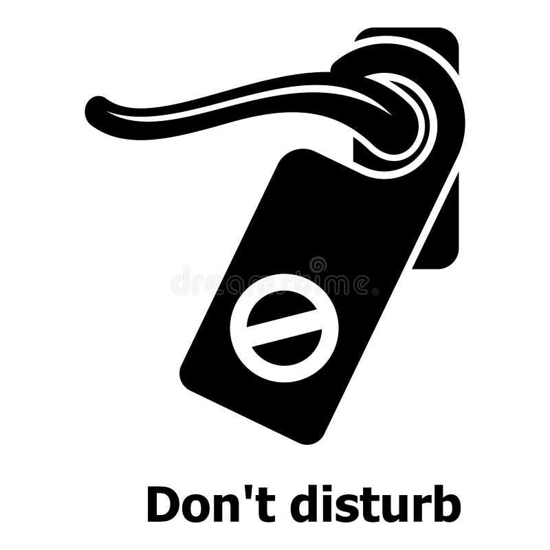 No perturbe el icono, estilo negro simple ilustración del vector