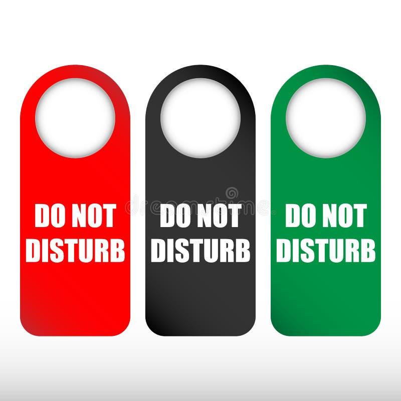No perturbe el sistema de la suspensión de puerta libre illustration