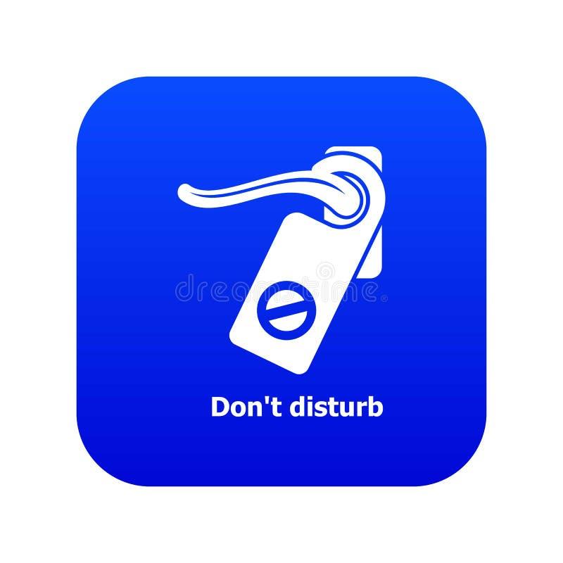 No perturbe el vector azul del icono libre illustration