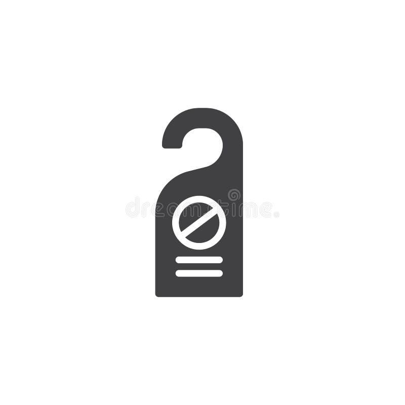 No perturbe el vector del icono de la etiqueta de la puerta ilustración del vector