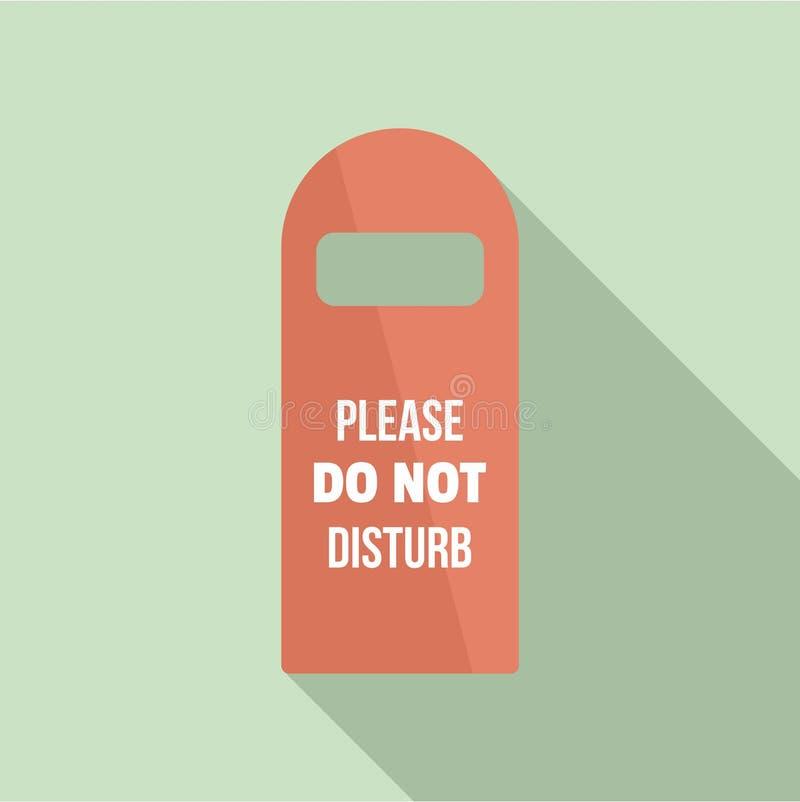 No perturbe por favor el icono de la etiqueta del sitio, estilo plano libre illustration