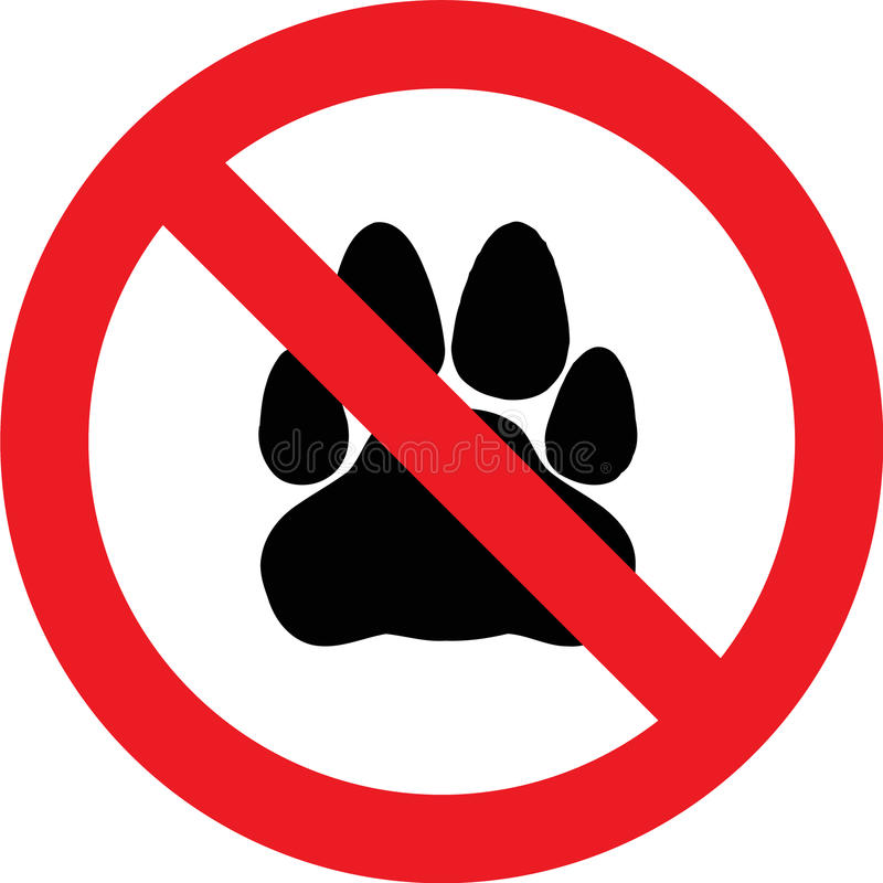 Free No Pets Sign Royalty Free Stock Photo - 83827855