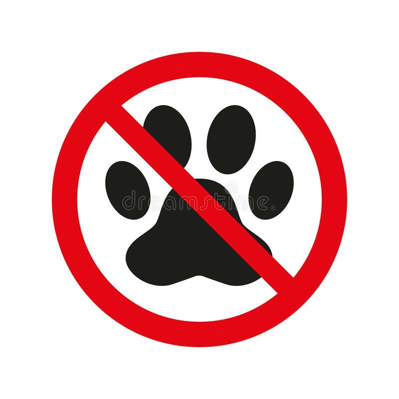No pets sign on white background. royalty free illustration