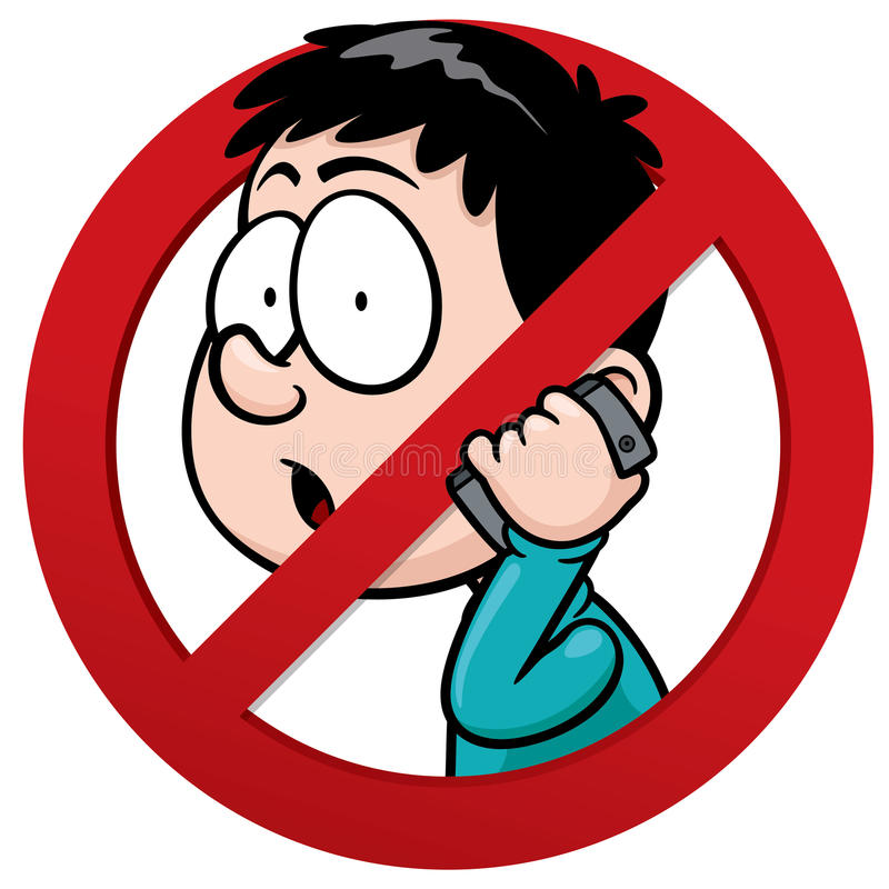 No phone receiver. Vector illustration of No phone receiver sign vector illustration