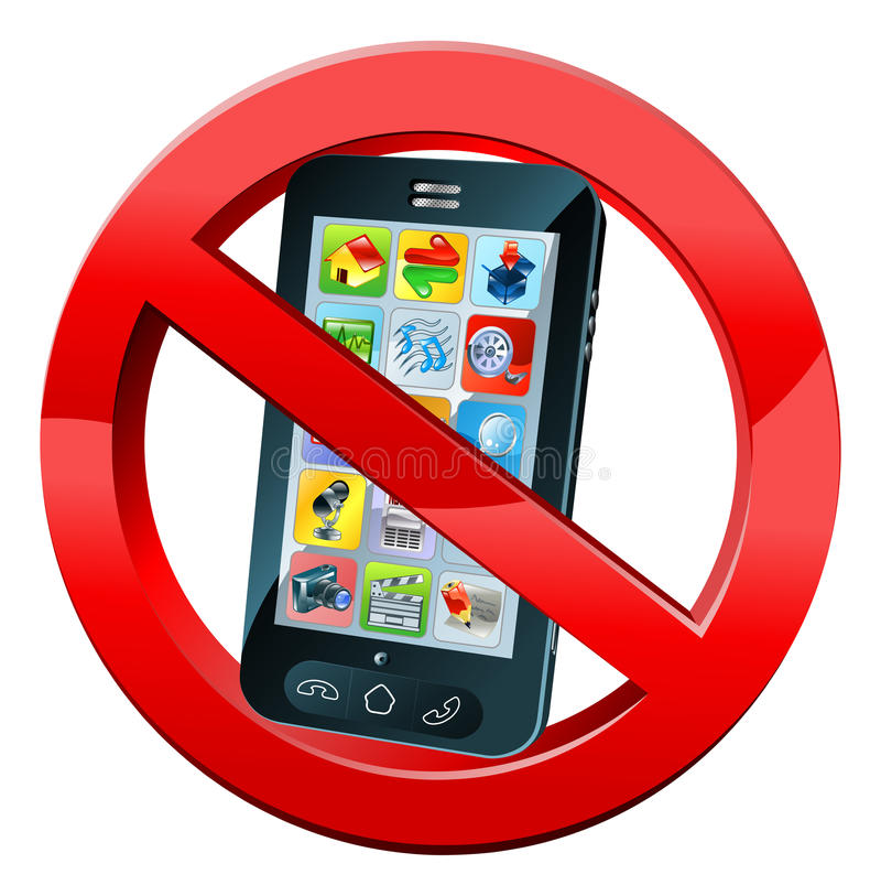 no phone sign stock vector  illustration of image  clip