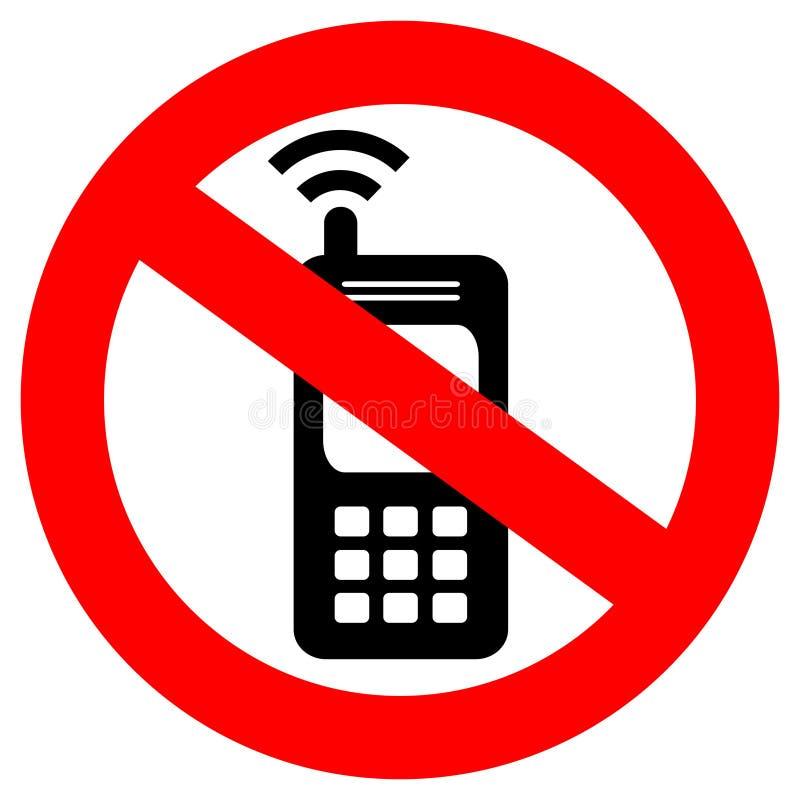 No phone sign royalty free illustration