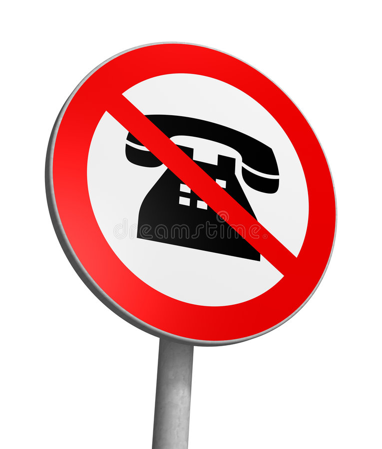 No phoning. Quirky Traffic Sign stock illustration