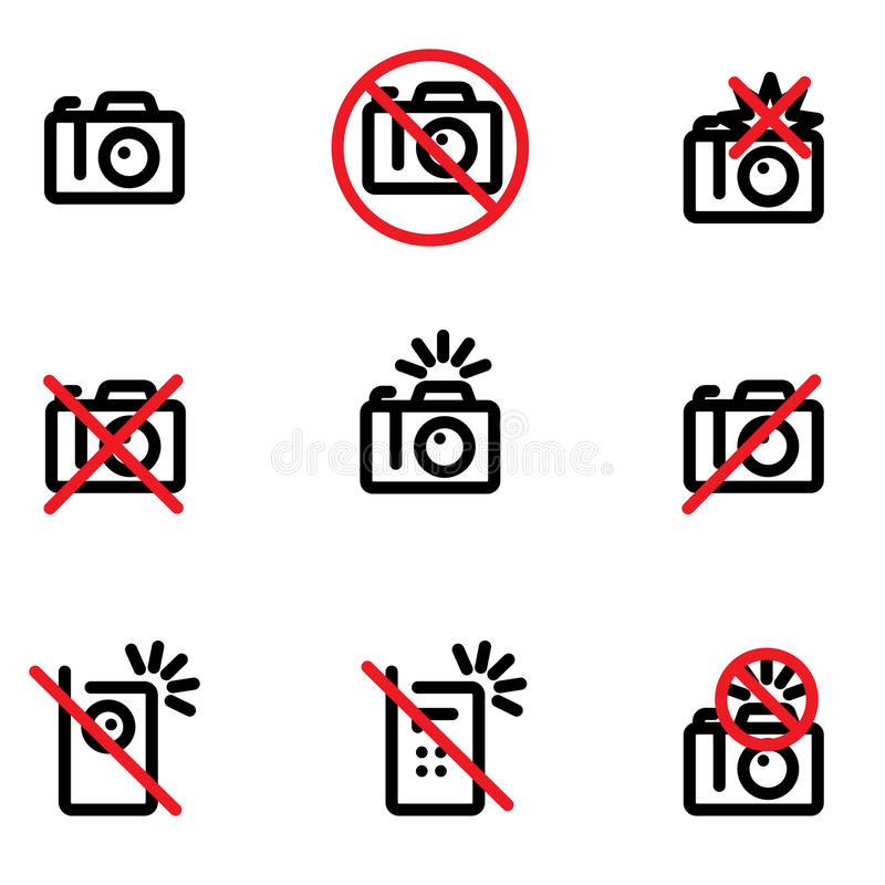 No photo allowed stock illustration
