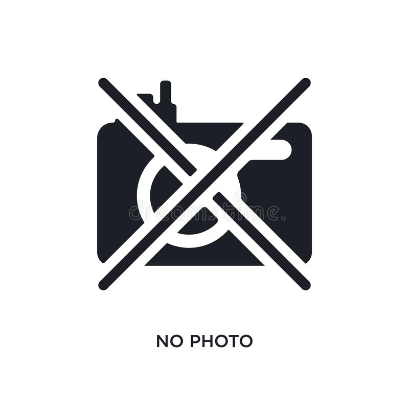no photo isolated icon. simple element illustration from museum concept icons. no photo editable logo sign symbol design on white royalty free illustration