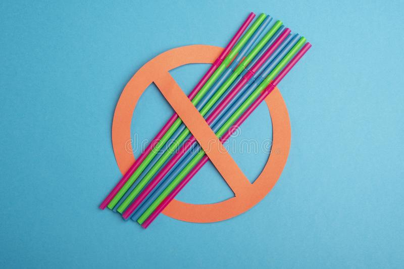 No plastic. Plastic tubes royalty free stock photos