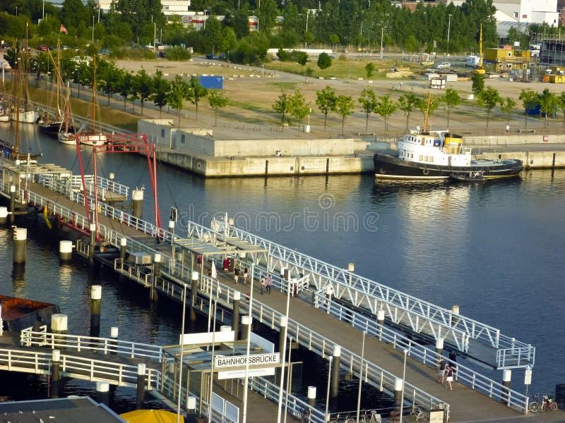 No porto de Kiel, Alemanha foto de stock royalty free