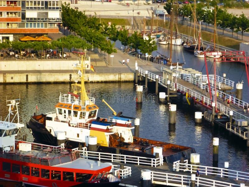 No porto de Kiel, Alemanha fotos de stock royalty free