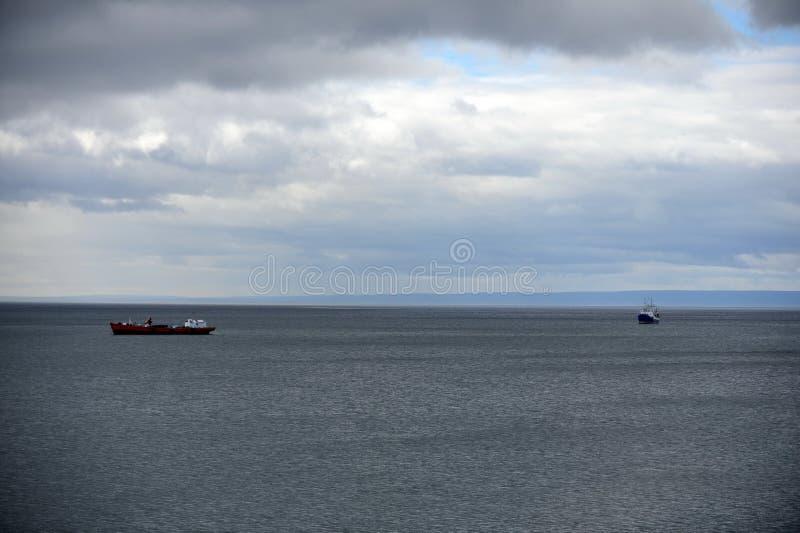 No porto do porto de Punta Arenas imagens de stock royalty free