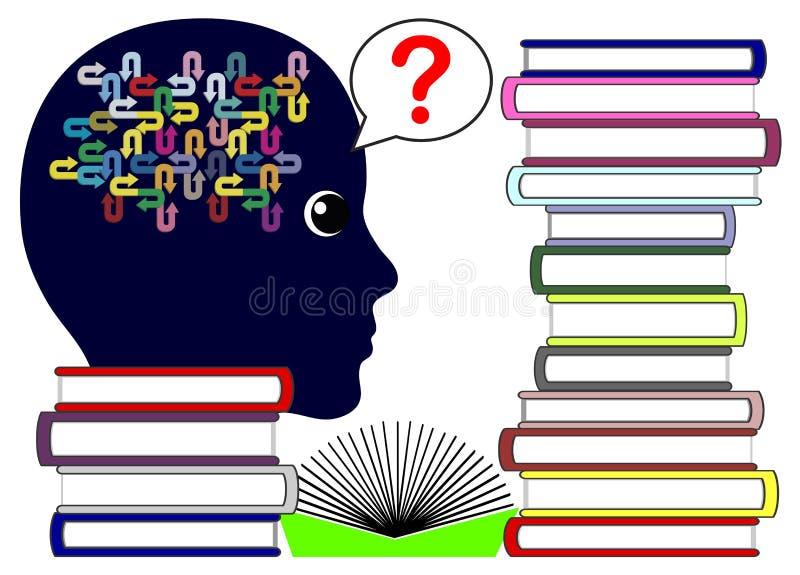 No pregunta ningún libro conoce la respuesta ilustración del vector