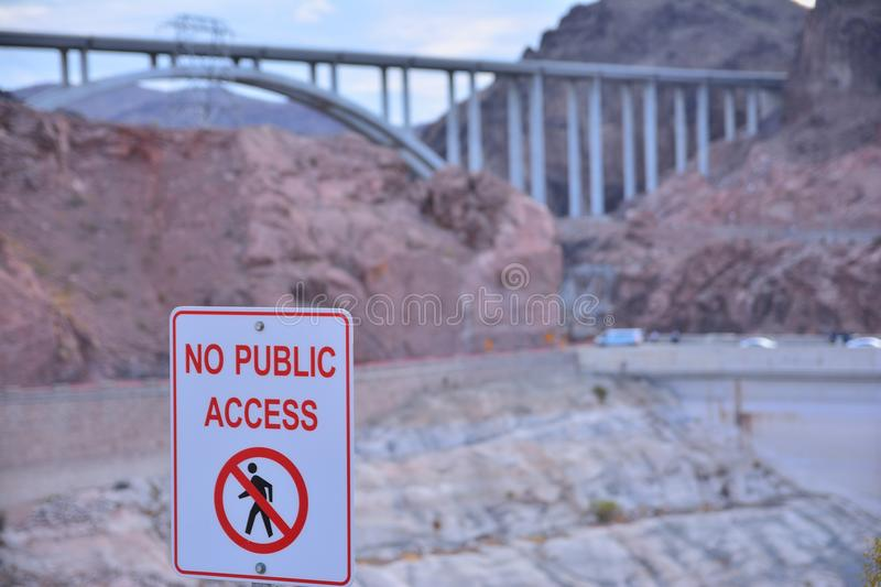 No public access sign. stock photos