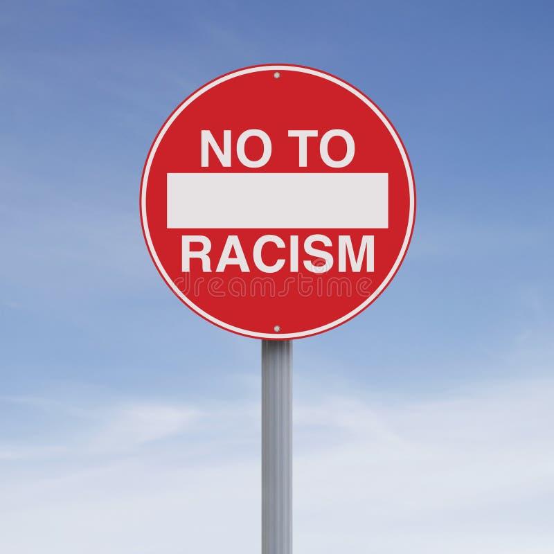 No a razzismo fotografia stock